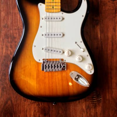 Dillion DVS 59 TA  Vintage Tobacco Sunburst Strat Style Electric Guitar W/ Maple Fretboard & Gig Bag for sale