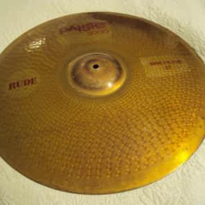 "Paiste 22"" 3000 RUDE Ride/Crash Cymbal"