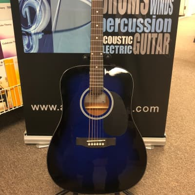 Denver DD44S Guitar w/Bag Blue for sale