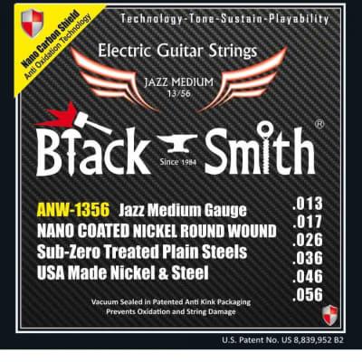 Black Smith électrique 13-56 coated - Jeu de cordes guitare électrique for sale