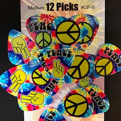 Graph-Picks Hippie Picks Medium Gauge 12-Pack
