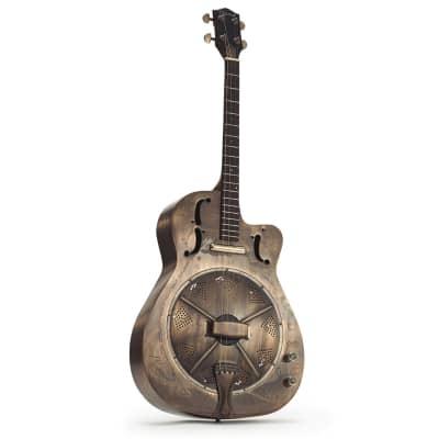 Ozark Deluxe tenor resonator guitar nickel for sale