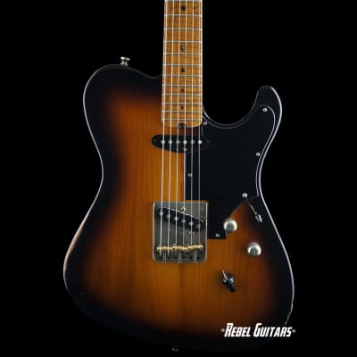 Preowned Asher Guitar Vintage Series  T Custom Relic in Tobacco Burst for sale