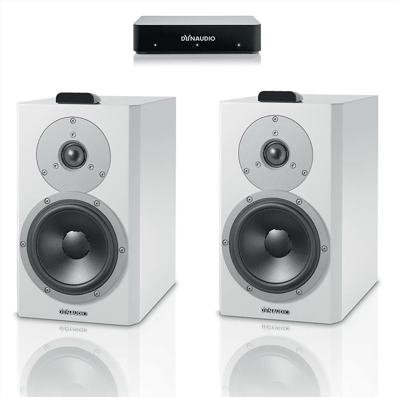 Dynaudio Xeo 4 Wireless Bookshelf Speakers Pair With Connect Transmitter White Satin