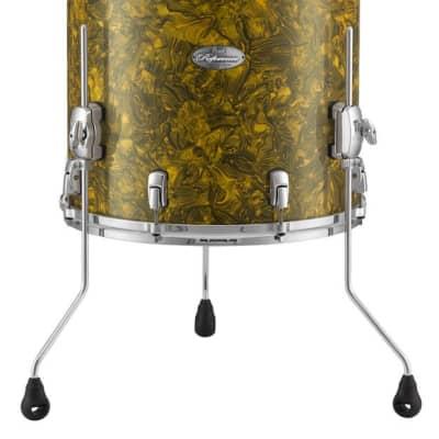 "Pearl Music City Custom 14""x12"" Reference Series Floor Tom Drum RF1412F - Golden Yellow Abalone"
