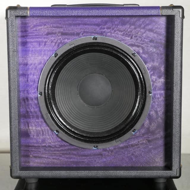 Tonewood Oversized 1x12 Figured Mango Violet w/ Attenuator &  75W WGS HM75 Driver image