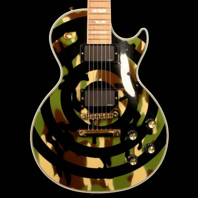 Gibson Custom Zakk Wylde Bullseye Camo Les Paul Custom for sale