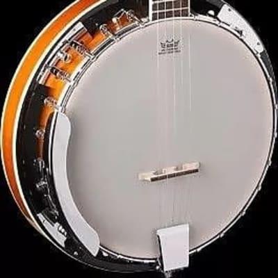Oscar Schmidt OB4 Nato Neck Mahogany Resonator 5-String Banjo - Gloss Finish