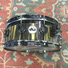 DW Collector's Top Edge Royal Ebony 5.5x14 Cherry Wood Snare Drum image