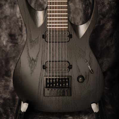 SOLAR A1.7 BOP LTD Artist | Black Open Pore | 7-string Electric Guitar with EverTune Bridge for sale
