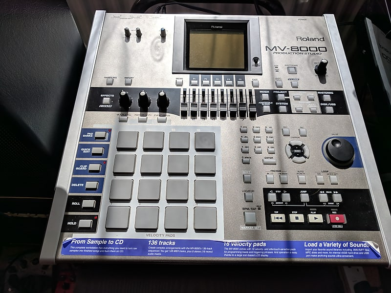Roland MV-8000 Drum sampler and sequencer immaculate with box
