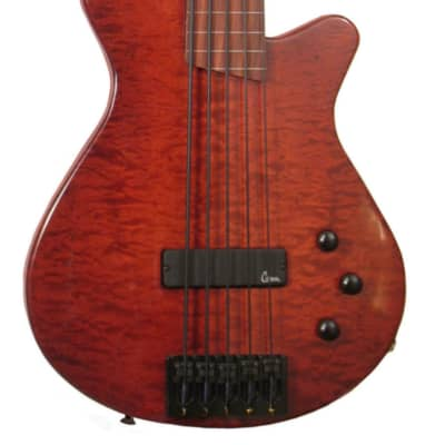 Veillette Paris Fretless 5 String Bass with Piezo Pickup 2016 Deep Red for sale