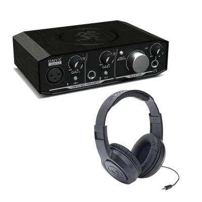 Mackie Onyx Artist 1-2 2x2 USB Audio Interface with Samson Headphones