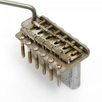 NEW Q-Parts AGED COLLECTION Tremolo for '57 Strat Steel Saddles & Block, DISTRESSED NICKEL for sale