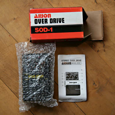 Arion SOD-1: boxed, vintage stereo overdrive pedal for sale