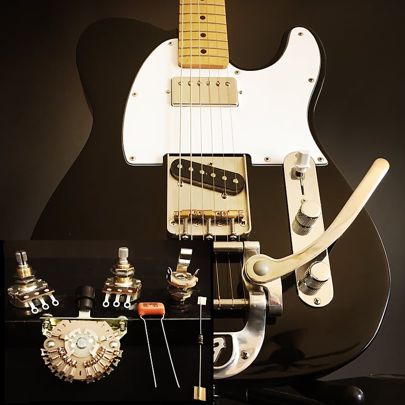 Sidewinder Guitars Telecaster Special / Fat Tele 5-Way Wiring Kit on