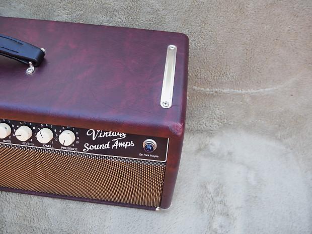 Twin Pine Auto >> Vintage Sound Twin Amp Head Wine Taurus Tolex - Excellent | Reverb