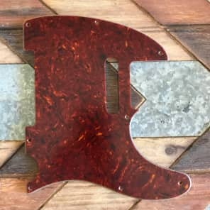 Real Life Relics Tele Telecaster Pickguard 4 ply 8 hole Tortoise Aged no pickup screw holes