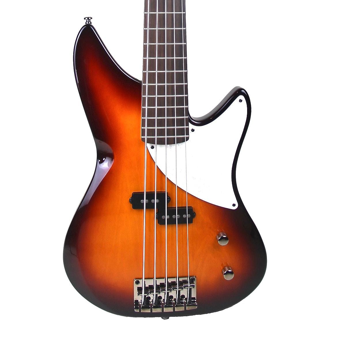 MTD Kingston CRB 5-String Classic Rock Bass Guitar Tobacco Sunburst