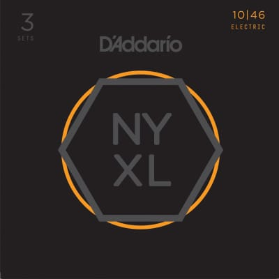 3 Pack D'Addario NYXL1046 Nickel Wound, Regular Light, 10-46