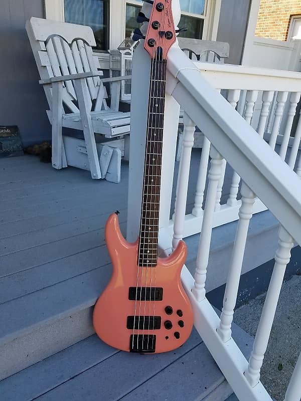 peavey 5 string bass very rare color circa 1980 s salmon reverb. Black Bedroom Furniture Sets. Home Design Ideas