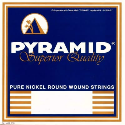 Pyramid Electric Pure Nickel Round Wound Strings 10-52