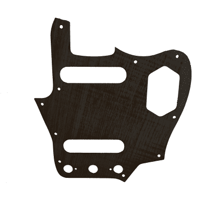 Maple Pickguard for Fender Jaguar in Black