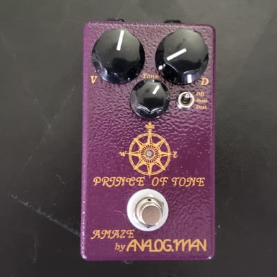 Analogman Prince of Tone Overdrive Pedal w original Box & Manual for sale