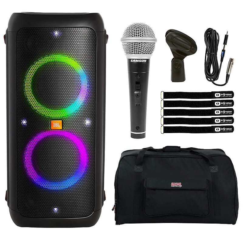JBL PartyBox 300 Battery Powered Bluetooth Tailgate Light Show Speaker  Package