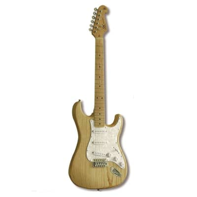 SX Electric Guitar SC  Swamp Ash - Natural / Maple Fingerboard for sale