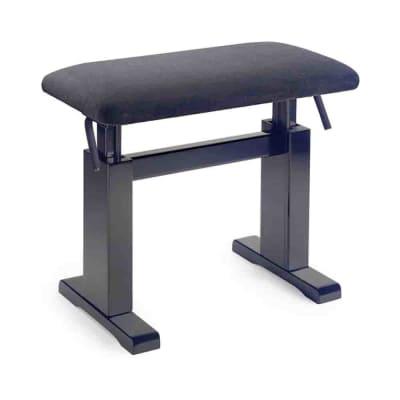 Stagg Matt black hydraulic piano bench w/ fireproof black velvet top