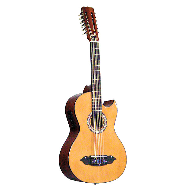 lucida traditional mexican style bajo sexto with electric reverb. Black Bedroom Furniture Sets. Home Design Ideas