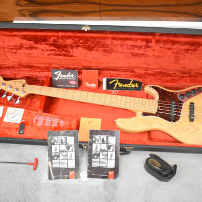 Fender American Deluxe Jazz Bass V 1999 Ash Natural for sale