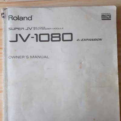 Roland Super JV 54 Voice Synthesizer Module JV-1080 4x Expansion  Owners Manual  1994
