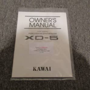 Used Kawai XD-5 Percussion Synthesizer Owner's Manual