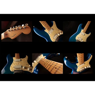 Fender Big Apple Stratocaster Hardtail with Maple Fretboard 1998 - 2000 Blue Transparent for sale