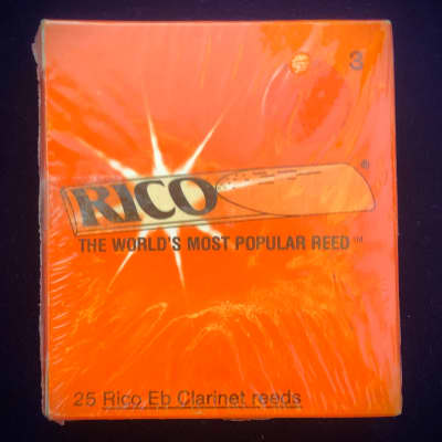 NEVER OPENED! 25 Rico Clarinet Reeds, Strength 3