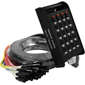 "Seismic Audio SAJT-16x4x50 16-Channel XLR Snake Cable w/ (4x) 1/4"" TRS Returns - 50'"