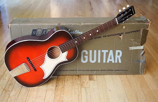 1967 Silvertone By Harmony Vintage Acoustic Parlor Guitar Reverb