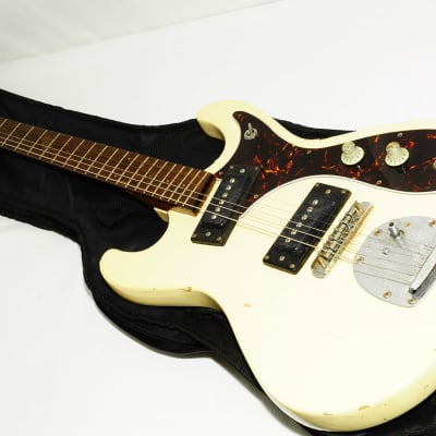 Guyatone Japan LG-127T Ivory Electric Guitar Ref No 2349 for sale