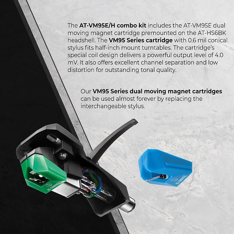 Audio-Technica AT-VM95EN//H Turntable Headshell//Cartridge Combo Kit
