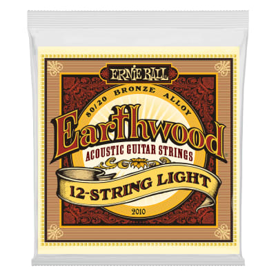 Ernie Ball Earthwood Acoustic 80/20 Bronze Guitar Strings  12-String Light