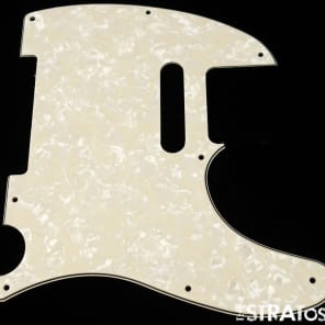*NEW Aged Pearloid Telecaster PICKGUARD for Fender USA Standard Tele 3Ply 8Hole