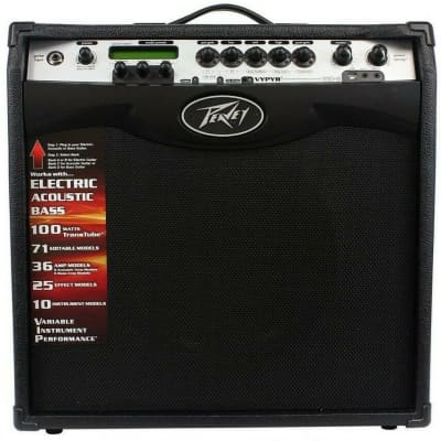 "Peavey Vypyr VIP 3 1x12"" 100-watt 1-channel 1x12"" Modeling Guitar/Bass/Acoustic Combo Amplifier"