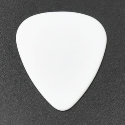 ABS Plastic White Guitar Or Bass Pick - 0.71 mm Medium Gauge - 351 Shape - 1 Pack New