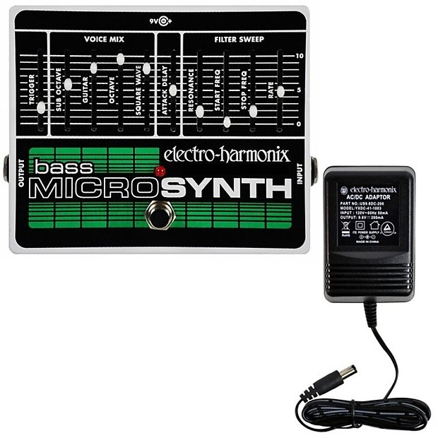electro harmonix bass microsynth w power supply analog bass reverb. Black Bedroom Furniture Sets. Home Design Ideas