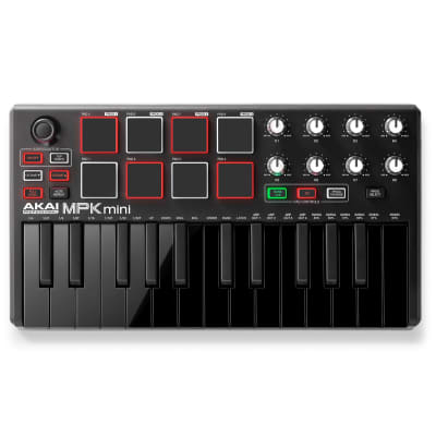 Akai MPK mini MKII USB Keyboard Controller, 25-Key - Limited Edition Black on Black