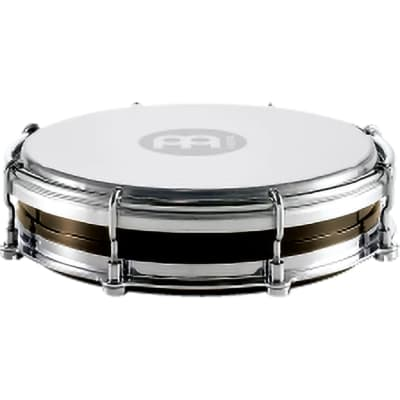 Meinl Percussion Tamborim with Floatune Tuning System - Plastic Body & Synthetic Head (TBR06ABS-BK)