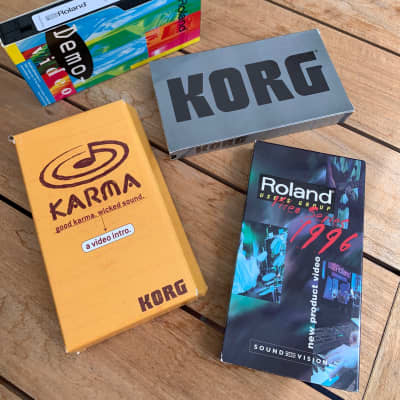 Vintage Synth Korg Karma, Korg i3, i2 and Roland and Product Intro. VHS Videos 1996