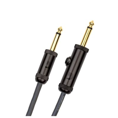 D'Addario Circuit Breaker Instrument Cable 10-Feet, Straight to Straight Angle with Momentary Switch